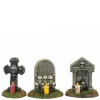 Department 56 Accessories for Villages Halloween Spooky Graveyard Vigil Figurine
