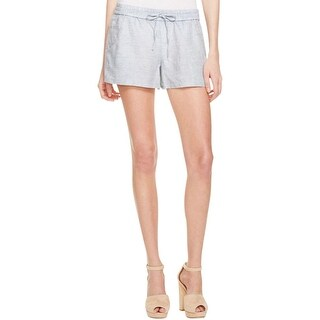 French Connection Womens Shorts Chambray Drawstring