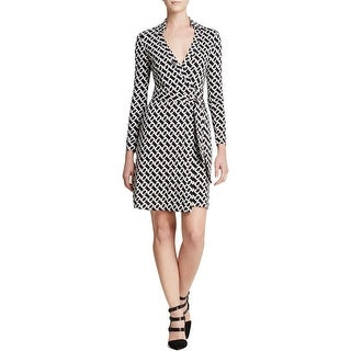 Diane Von Furstenberg Womens New Jeanne Two Wrap Dress Silk Patterned - 14