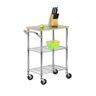 Honey-Can-Do SHF-01607 Chrome 2 Shelf Urban Rolling Cart