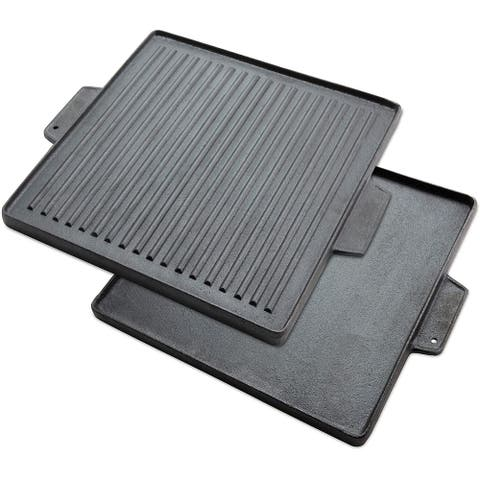 Hike Crew 2-in-1 15x15 reversible griddle grill cast iron