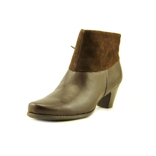 Softwalk Darla Women Round Toe Leather Brown Ankle Boot
