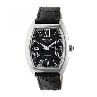 Heritor Baron Men's Automatic Watch, Genuine Leather Band, Sapphire-Coated Crystal, Luminous Hands