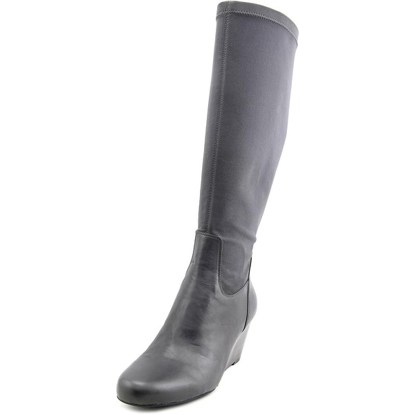 Isaac Mizrahi Kristen Women Round Toe Canvas Knee High Boot