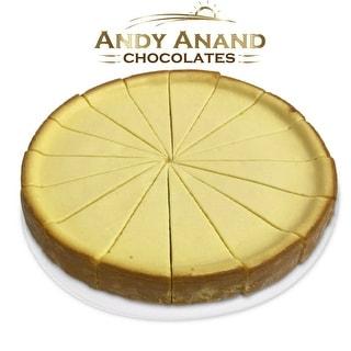 "Link to Andy Anand Mango Cheesecake 9"" (2 lbs) With Greeting Card Similar Items in Gourmet Food Baskets"