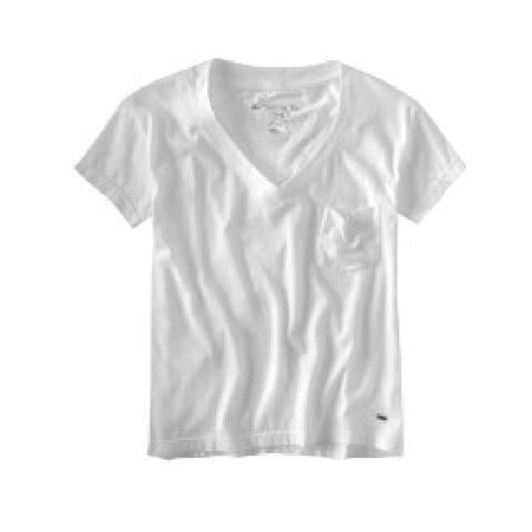 Aeropostale Womens V-Neckpocket Basic T-Shirt