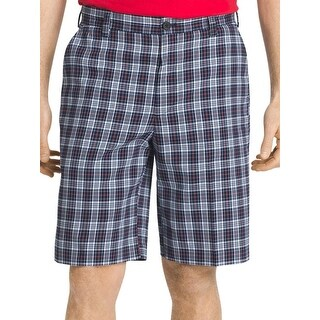 Izod Mens The Driver Casual Shorts Moisture Wicking Plaid