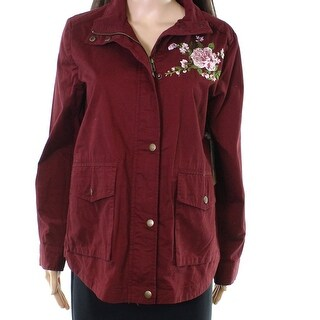 Blu Pepper Red Women's Size Medium M Floral Embroidered Jacket