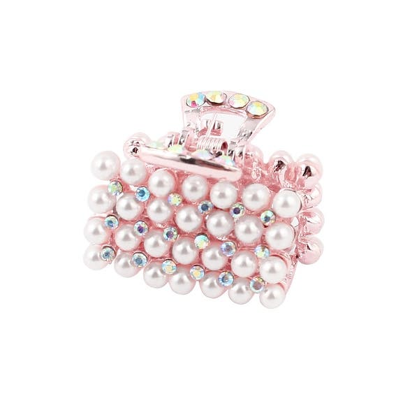 5e8301804 Shop Unique Bargains White Faux Pearl Decor Rectangle Hairpin Hair Clips  Claws Clamps Hairdressing - Free Shipping On Orders Over $45 - Overstock -  18461000