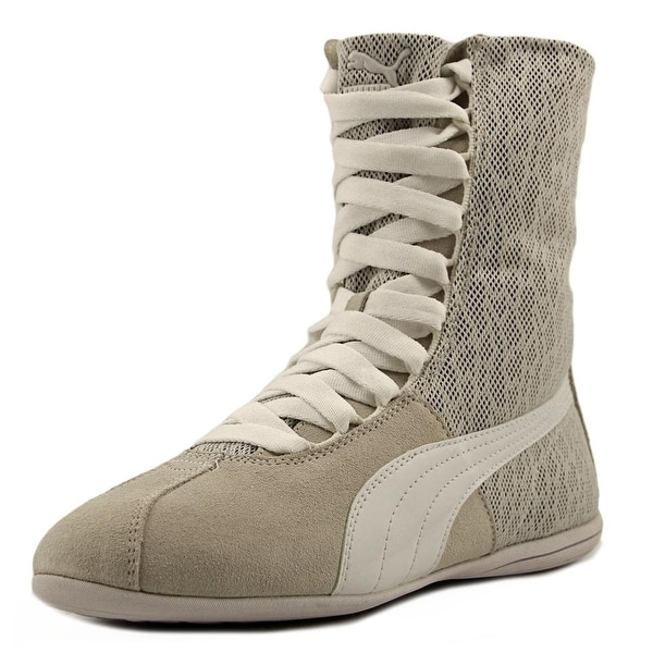 Puma Eskiva Hi Textured Women Round Toe Leather White Sneakers