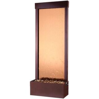 BluWorld Gardenfall Garden Water Fountain-Bronze Mirror/Dark Copper Frame