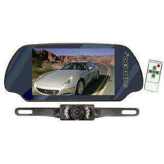 pyle audio CL3956 B Pyle PLCM7200 7-Inch TFT Mirror Monitor with Rearview Night Vision Camera