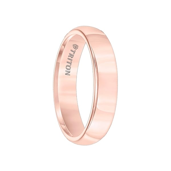 MARQUESA Domed Rose Gold Plated Womens Tungsten Ring with Brightly Polished Finish by Triton Rings - 5mm