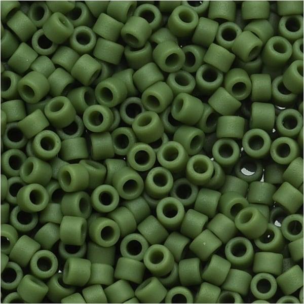 Miyuki Delica Seed Beads 11/0 'Matte Opaque Avocado' Green DB1585 7.2 GR