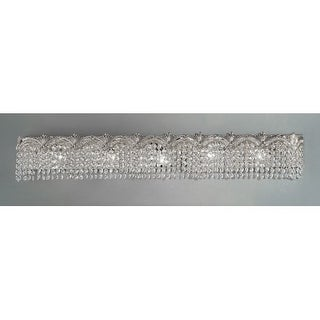 """Classic Lighting 1853-CHB 6.5"""" Crystal 5 Light Vanity from the Regency II Collection (3 options available)"""