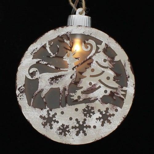 Deer Scene Disc Ornament