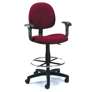 Fully Adjustable Drafting Stool With Foot Ring and Arm Rests - B169