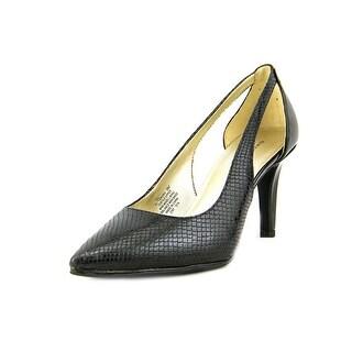 Bandolino Flonora Women Pointed Toe Canvas Black Heels