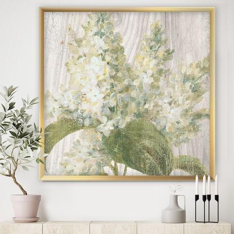 Designart 'Goauche Green Flower II' Cabin & Lodge Framed Art Print
