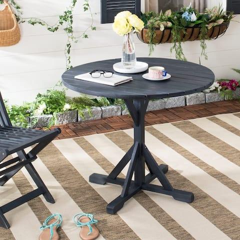 "SAFAVIEH Arcata Dark Slate Grey Round Table - 35.4"" x 35.4"" x 29.1"""