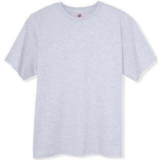 Hanes TAGLESS 6.1 Short Sleeve T-Shirt, Ash XXX-Large