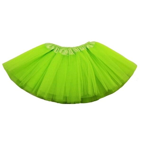 Baby Girls Lime Green Satin Elastic Waist Ballet Tutu Skirt 0-12M