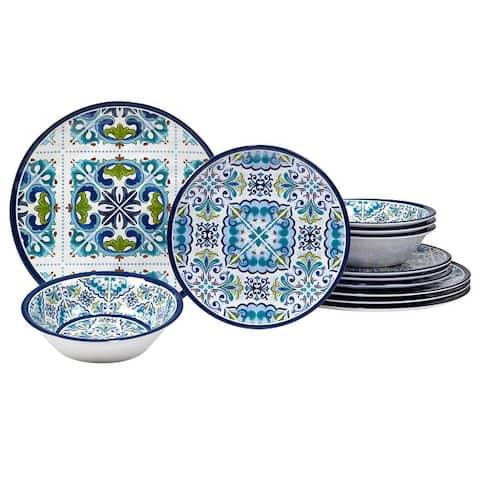 Certified International Mosaic 12 Pieces Melamine Dinnerware Set