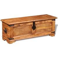 vidaXL Storage Chest Rough Mango Wood - brown