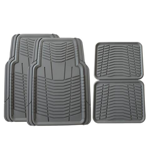 Member's Mark All-Weather Automotive Floor Mats (4 Pack, Gray)