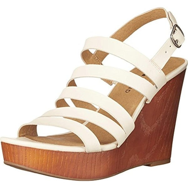 Lucky Brand Womens Larinaa Wedge Sandals Leather Platform