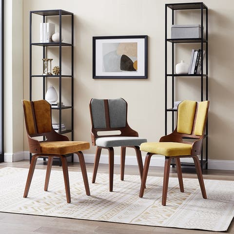 Corvus Ariana 35-inch Walnut Finished Accent Side Chair (Set of 2)
