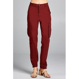Link to Ladies fashion waist button elastic hem w/snap button cargo pants Similar Items in Pants