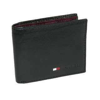 Tommy Hilfiger Men's Leather Billfold Coin Wallet - One size