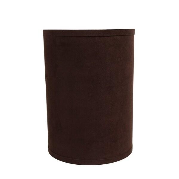 "Aspen Creative Hardback Drum (Cylinder) Shape Spider Construction Lamp Shade in Dark Brown (8"" x 8"" x 11""). Opens flyout."