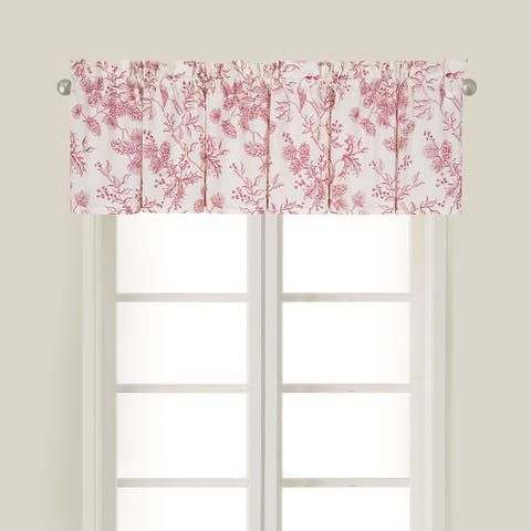 Evergreen Toile Valance Set of 2 - 15.5 x 72
