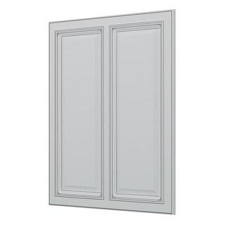 "Sunny Wood SLA2430MDP Sanibel 24"" x 30"" Matching Decorative Panel - off white with charcoal glaze - N/A"
