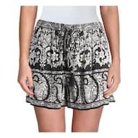 Aqua Womens Casual Shorts Crepe Paisley