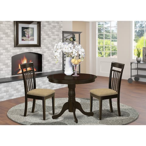 3-piece Kitchen Set - Dining Table and 2 Chairs in Cappuccino Finish