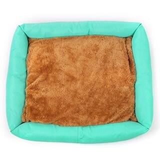 Autumn Winter Detachable Washable Pet Bed Non-Skid Bottom Sky Blue L 61*51*7cm - Sky blue