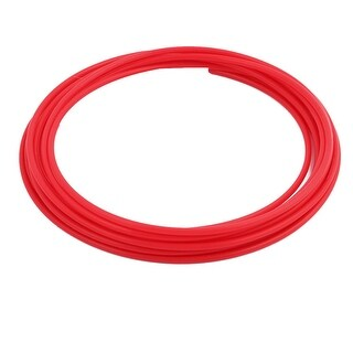 3.38mmx3.78mm PTFE Resistant High Temperature Red Tubing 5 Meters 16.4Ft