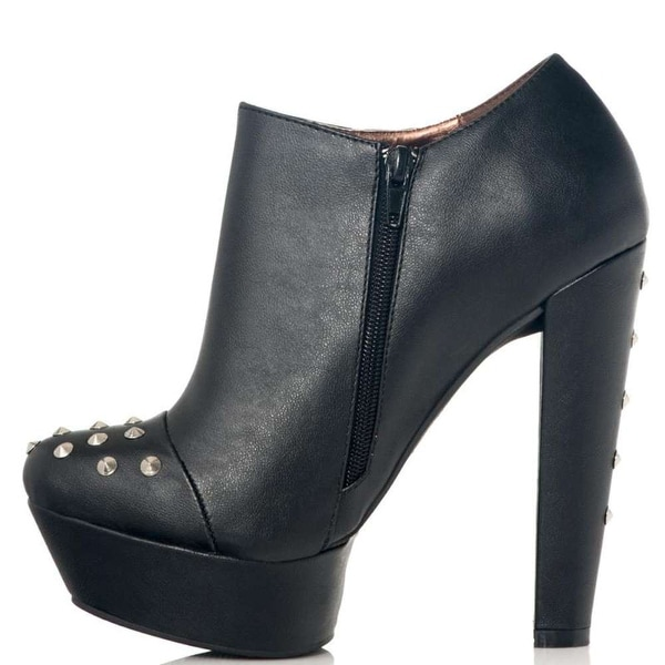 Just Fab Womens Genesis Closed Toe Ankle Fashion Boots