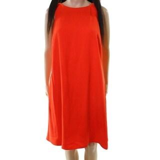 Lauren by Ralph Lauren NEW Orange Womens Size 12 Crewneck Shift Dress