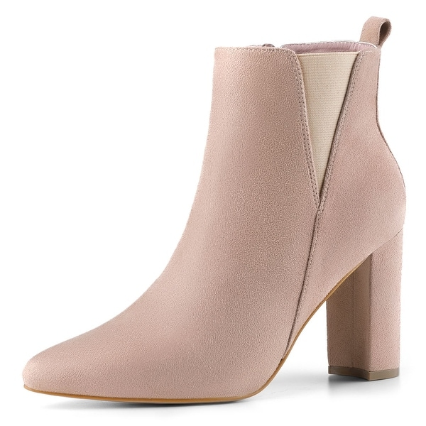Allegra K Womens Stacked Chunky Heel Ankle Boots