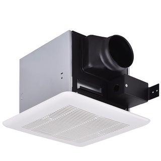 Gymax Bathroom Exhaust Fan Ceiling Wall Mounted Air Ventilation 80 Cfm