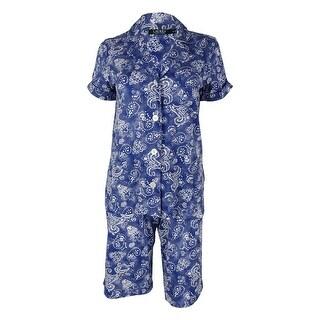 Lauren Ralph Lauren Women's Print Bermuda Short Pajamas - XS