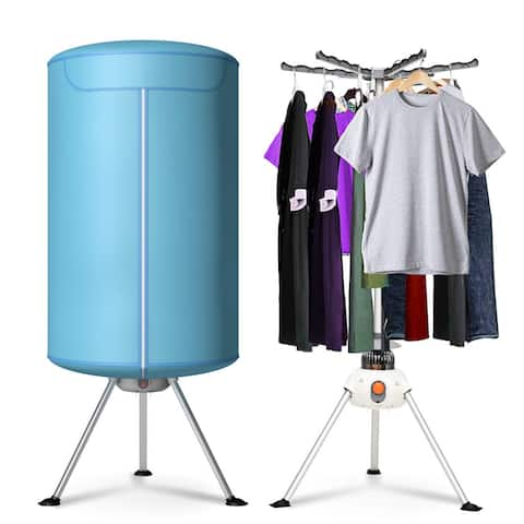 Costway Portable Ventless Laundry Clothes Dryer Folding Drying Machine Heater 900W 22lbs