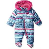 Wippette Girls 0-9 Months Stripe Hooded Snowsuit Pram