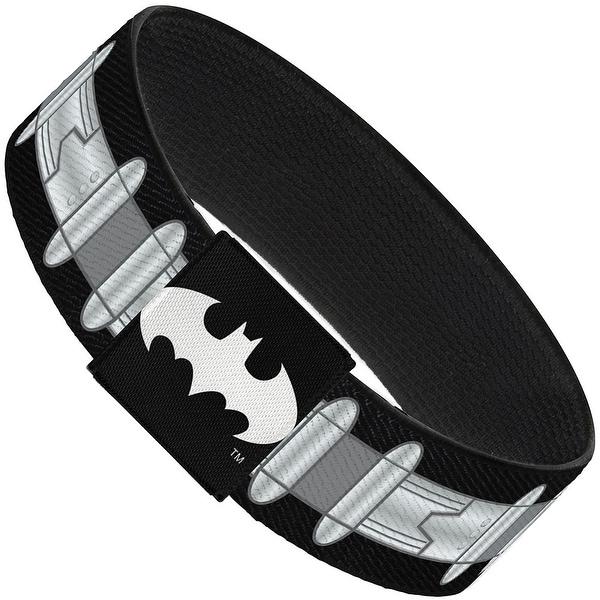Batman Utility Belt Black Gray Elastic Bracelet