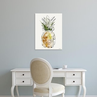 Easy Art Prints Green Lili's 'Pineapple' Premium Canvas Art