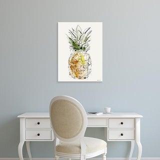 Easy Art Prints Green Lili's 'Pineapple' Premium Canvas Art